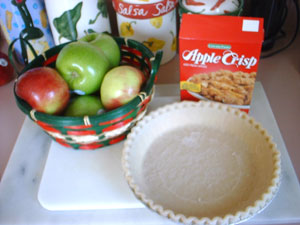 French Apple Pie Ingredients