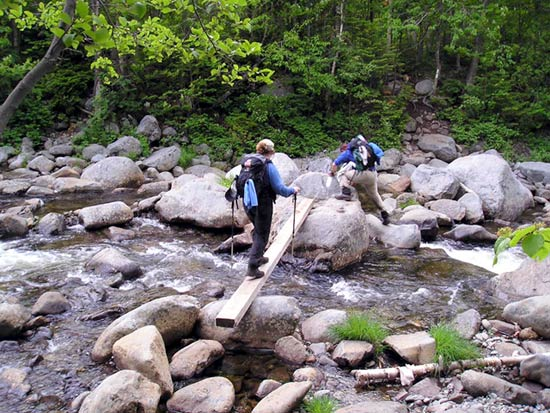 Crossing the South Branch of the Carrabassett River